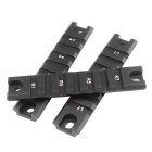 D0018-3 20mm Aluminum Alloy Tactical Short Gun Rail Mount - Black
