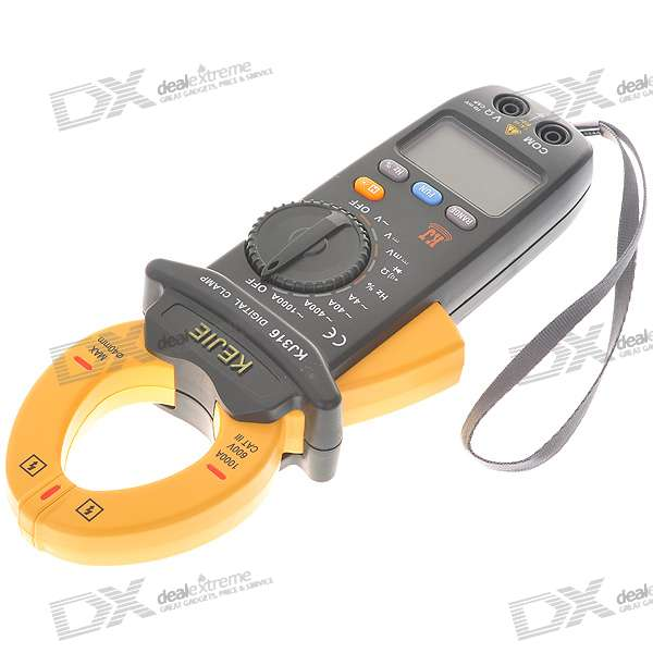 2.0 LCD Handheld Auto-Range Digital Clamp Multimeter (Voltage + Current + Resistance / 2*AA) multimeter test leads digital auto range