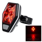 CTSmart Waterproof Ultra Bright 4-Mode 4-LED Red Light Bike Tail Light - Black + Red (2 x AAA)