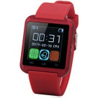 Waterproof MTK6261 Bluetooth V3.0 Touch Screen Smartwatch - Red