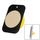 Universal Magnetic Car Air Outlet Mount Holder for Cellphone / GPS Navigator - Yellow