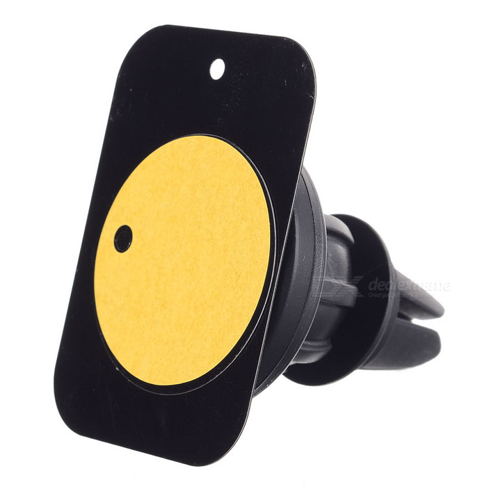 Universal Magnetic Car Air Outlet Mount Holder for Mobiltelefon - Svart