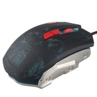 JIANSHENGYIZU JS-L8 Classic 8-Key Wired Professional Game Mouse w/ Colorful LED Light - Red + Black