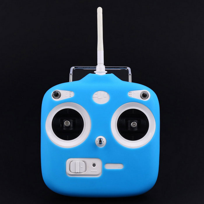 Silicone Remote Controller Protective Cover Case Skin for DJI Phantom 3 Standard - Blue