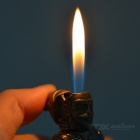 Ancient Warrior Design Butane Gas Cigarette Lighter - Bronze