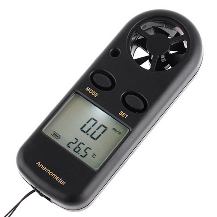 "Digital Wind Scale Anemometer Thermometer w/ 1.5"" Screen"