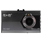 "Ultra-thin X1 170' Wide Angle 3.0"" TFT CMOS 16:9 LCD Screen 1080P HD Video Loop Car DVR"