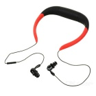 Universal Water-Resistant Bluetooth V4.0 Neck Band Earphones Headphones w/ Mic. - Red + Black
