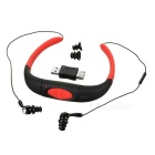 Water-Resistant Bluetooth V4.0 Neck Band Earphones - Red + Black