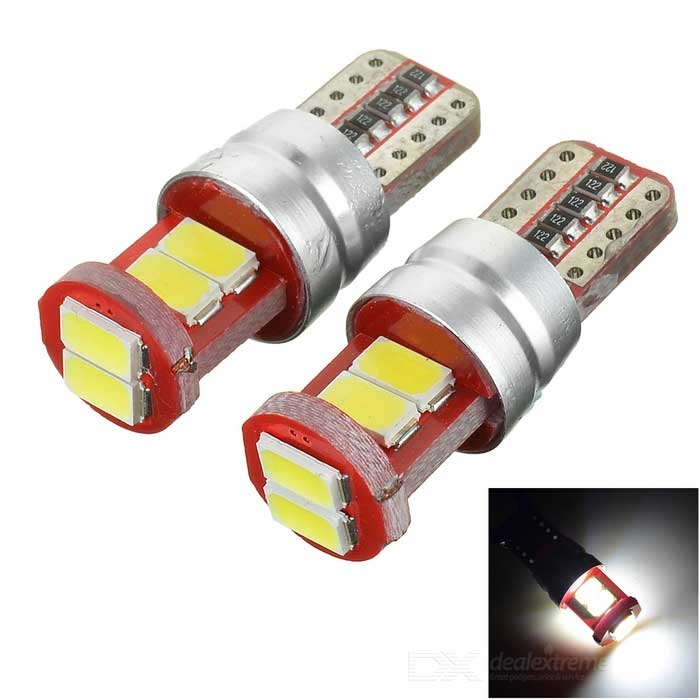 T10 2W LED Car Brake Light / Backup Lamp Cold White 9899K 55lm 6-SMD 5730 (DC 12V / 2PCS)
