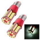 T10 3.5W LED Car Steering Light / Backup Lamp White 5963K 242lm 57-SMD 4014 (AC 12V / 2PCS)