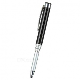 2-in-1 Handwriting Ball-Point Pen & Capacitive Screen Disc Stylus for IPAD + More - Black + Silver