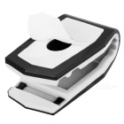 Plastic Car Mount Holder Clip for Cellphone / GPS Navigator / IPAD / IPHONE - Black + White