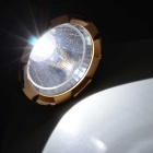 Solar Powered Retractable Camping LED Flashlight Lamp Lantern w/ Handle - Silver White + Golden