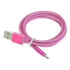 Hat-Prince Data Transfer & Charging Cable for Samsung S6 / Note 5 / HTC / Huawei / Sony - Deep Pink