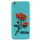 MO.MAT Rose Flower Knitting Pattern Back Case for IPHONE 6S Plus / 6 Plus - Blue