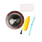 Underwater Waterproof Lens Hood Cover Floating Ball Case w/ Hand Grip for GoPro Hero 4 / 3+ / 3
