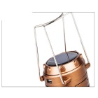 Portable rekbaar Outdoor Camping op zonne-energie LED Emergency Lantern Lamp - Bronze (3 x AA)