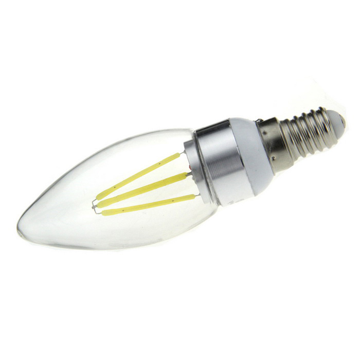 FandyFire E14 4W LED Household Light Bulb Cold White 6500K 700lm 4-COB (AC 85-265V)