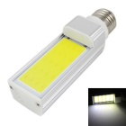 KINFIRE E27 7W 560lm 6000K LED COB White Light Energy Saving Lamp - Silver (AC 85~265V)