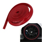 Plastic Slim Car Decorative Moulding Trim Strip 2M 6.6Ft Length - Red