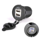 3.1A USB Car Cigarette Lighter Power Charger DC 12~24V Universal Motorcycle USB Charger