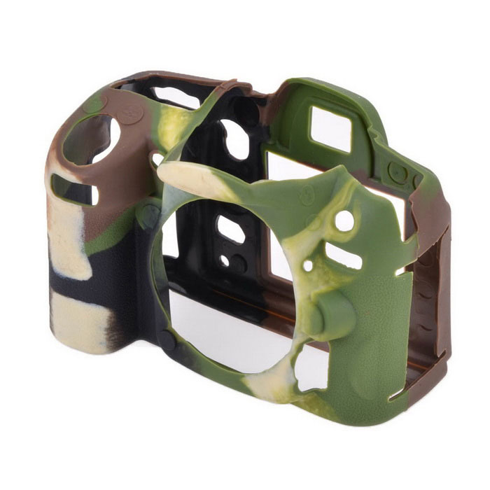 Durable Silicone Protective Case Cover Housing Cage for Nikon D7000 DSLR Cameras - Camouflage