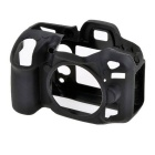 Durable Silicone Protective Case Cover Housing Cage for Nikon D7100 DSLR Cameras - Black
