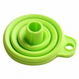 Folding Silicone Funnel Kitchen Tool - Light Green