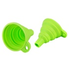 Folding Silikon Funnel Kitchen Tool - Light Green