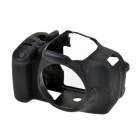 Durable Silicone Protective Case Cover Housing Cage for Canon 600D DSLR Cameras - Black