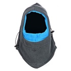 NUCKILY PK05 Winter Cycling Dustproof Windproof Warm Breathable Masked Cap - Grey + Sapphire Blue