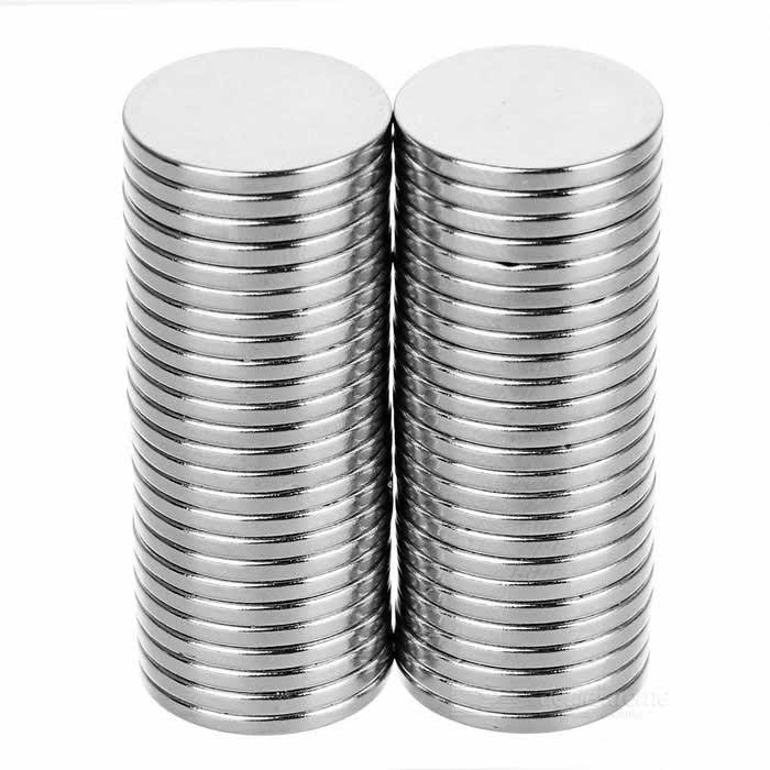 Round D18 x 2mm NdFeB Magnets - Silver (50PCS)