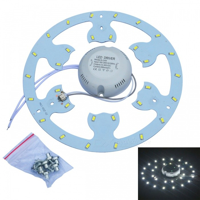 JW 15W 1500lm 6500K 30-SMD 5730 White Light Source for Ceiling Lamp w/ Magnetic Nails (AC 170~265V)