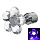 CTSmart Fashion Plum Blossom Style Purple Light LED Luminous Ear Stud Earring for Party / Bar