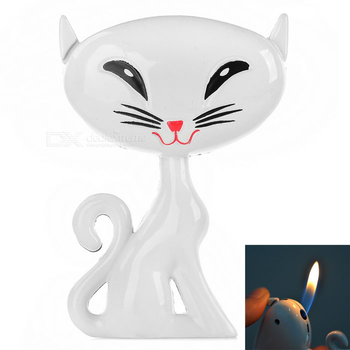 Creative Fox Style High Quality Butane Gas Lighter - White