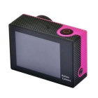 "2 ""LCD 12MP 1080P Wi-Fi Acção Waterproof Camera - Deep Pink"