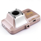 "X7 3.0"" CMOS 140' Wide-Angle Car DVR Camera Camcorder w/ GPS / IR Night Vision / Loop Record - Gold"