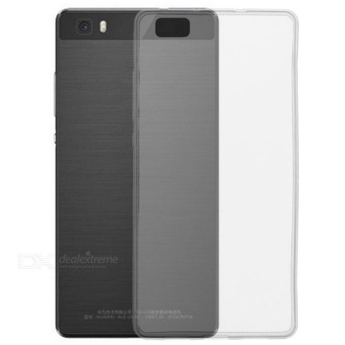Ultra-Thin Protective TPU Back Case Cover for Huawei P8 Lite - Transparent Black