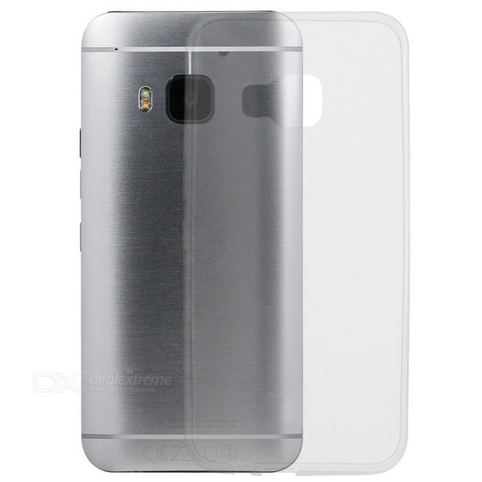 Ultra-Thin Protective TPU Back Case Cover for HTC M9 - Transparent