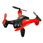 WLtoys 5.8GHz 4-CH Mini RC FPV Quadcopter w/ 0.3MP Camera & Wi-Fi & Lamp & 360' Tumble - Red + Black