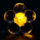 CTSmart Fashion Plum Blossom Style Yellow Light LED Luminous Ear Stud Earring for Party / Bar