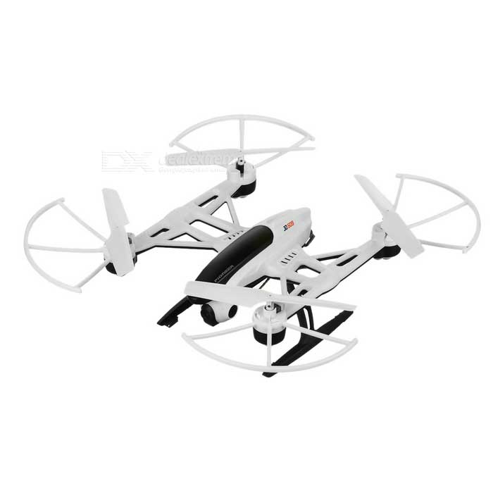JXD WIFI FPV 4CH 6-Axis RC Quadcopter w/ 1.0MP Camera High Hold Mode One Key Return FunctionR/C Airplanes&amp;Quadcopters<br>Form  ColorWhite + BlackMaterialABS + electronic componentsQuantity1 DX.PCM.Model.AttributeModel.UnitShade Of ColorWhiteGyroscopeYesChannels Quanlity4 DX.PCM.Model.AttributeModel.UnitFunctionUp,Down,Left,Right,Forward,Backward,Hovering,Sideward flightRemote control frequency2.4GHzRemote TypeRadio ControlRemote Control Range100 DX.PCM.Model.AttributeModel.UnitIndoor/OutdoorOutdoorSuitable Age 12-15 years,Grown upsCameraYesCamera PixelOthers,1.0MPLamp YesBattery Capacity600 DX.PCM.Model.AttributeModel.UnitBattery TypeLi-polymer batteryCharging Time70 DX.PCM.Model.AttributeModel.UnitWorking Time8 DX.PCM.Model.AttributeModel.UnitModelMode 1 (Right Throttle Hand),Mode 2 (Left Throttle Hand)Remote Control TypeWirelessRemote Controller Battery TypeAARemote Controller Battery Number4(not included)Other FeaturesHigh hold mode, 360 degrees roll, one key return function, headless mode, 6-axis gyroPacking List1 x Quadcopter1 x Remote controller1 x Screwdriver1 x Chinese / English user manual1 x Charging cable(80+/-2cm)4 x Blades1 x Card reader1 x Memory card(4GB)<br>