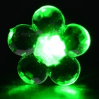 CTSmart Fashion Plum Blossom Style Green Light LED Luminous Ear Stud Earring for Party / Bar