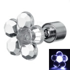 CTSmart Fashion Plum Blossom Style White Light LED Luminous Ear Stud Earring for Party / Bar