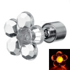 CTSmart Fashion Plum Blossom Style Orange Light LED Luminous Ear Stud Earring for Party / Bar