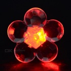 CTSmart Fashion Plum Blossom Style Red Light LED Luminous Ear Stud Earring for Party / Bar