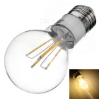 E27 4W Dimmable LED Lamp Bulb Globe Warm White 3500K 380lm Luz de 4 COB (AC 220 ~ 240V)