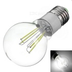 E27 4W Dimmable LED Globe Bulb Lamp White Light 6500K 380lm 4-COB (AC 220~240V)