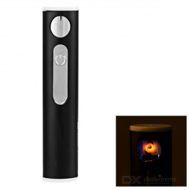 Creative USB Rechargeable Windproof Electronic Cigarette Lighter - Black